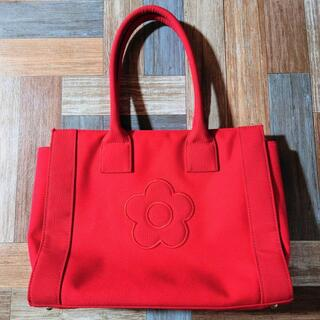 MARY QUANT - MARY QUANT キャンバス トートバッグ レッド
