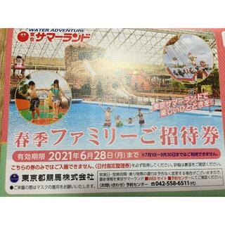 東京サマーランド 株主優待券 1セット(8枚)(遊園地/テーマパーク)