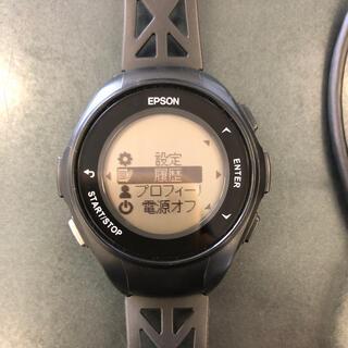 エプソン(EPSON)のEPSON GPSギア Q-10B ランニングウォッチ(腕時計(デジタル))