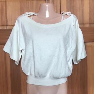 ビーラディエンス(BE RADIANCE)のBE  RADIANCE ビーラディエンス  肩リボン半袖ニット(カットソー(半袖/袖なし))