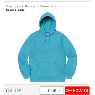 Supreme - supreme ロゴパーカー blue ブルー hoodie パーカー 青 S
