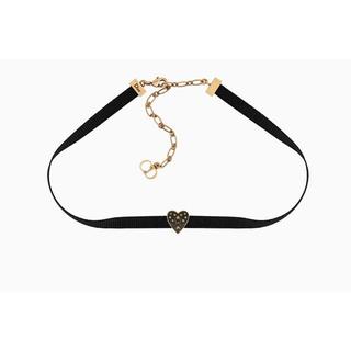 クリスチャンディオール(Christian Dior)のChristian Dior クリスチャンディオール ブラックハート チョーカー(ネックレス)