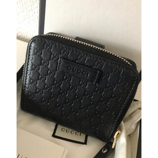 Gucci - 美品GUCCI グッチ シマ 折財布 ブラック