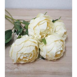 【おまけ付き】花束 造花 母の日 ブーケ  観葉植物 バラ ホワイト(その他)