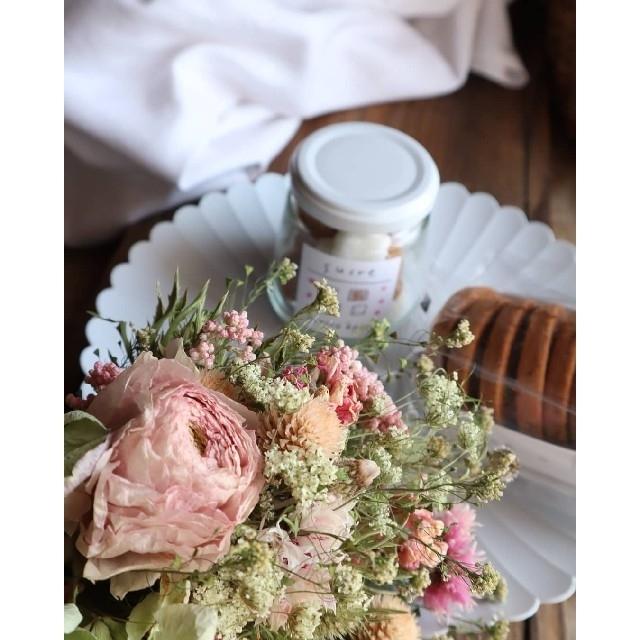 母の日フラワー。くすみピンクとアンティーク紫陽花スワッグ。ドライフラワースワッグ ハンドメイドのフラワー/ガーデン(ドライフラワー)の商品写真