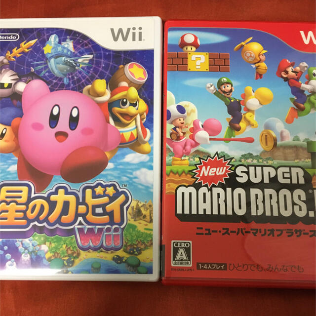 Wii(ウィー)のNew スーパーマリオブラザーズ 星のカービィ wii ソフト カセット エンタメ/ホビーのゲームソフト/ゲーム機本体(家庭用ゲームソフト)の商品写真