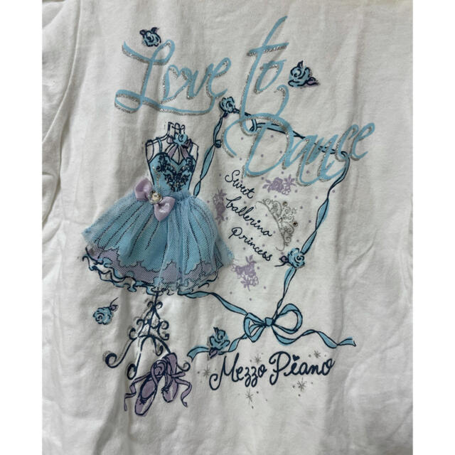 mezzo piano(メゾピアノ)のメゾピアノ  mezzo piano Tシャツ 120 キッズ/ベビー/マタニティのキッズ服女の子用(90cm~)(Tシャツ/カットソー)の商品写真