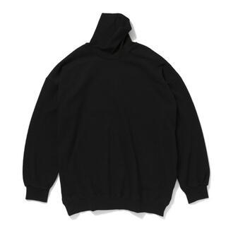 COMOLI - 久米繊維 ビッグ タートルネック スウェット ブラック