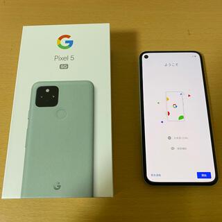 Google - ソフトバンク Google Pixel5 グリーン ほぼ新品 SIMロック解除済