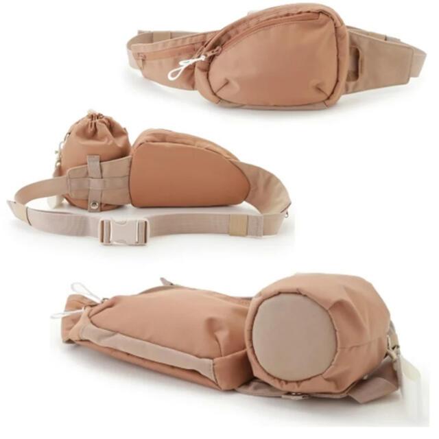 emmi atelier(エミアトリエ)のemmi atelier エミ アトリエ 3WAY ウエストポーチ新品タグ付き レディースのバッグ(ボディバッグ/ウエストポーチ)の商品写真
