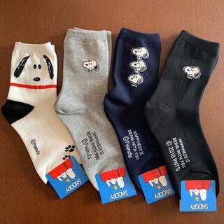 SNOOPY - 4 スヌーピー 靴下