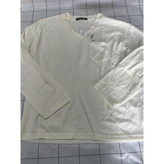 イング(INGNI)のイング INGNI  ポケット付きロンT オフホワイト(Tシャツ(長袖/七分))