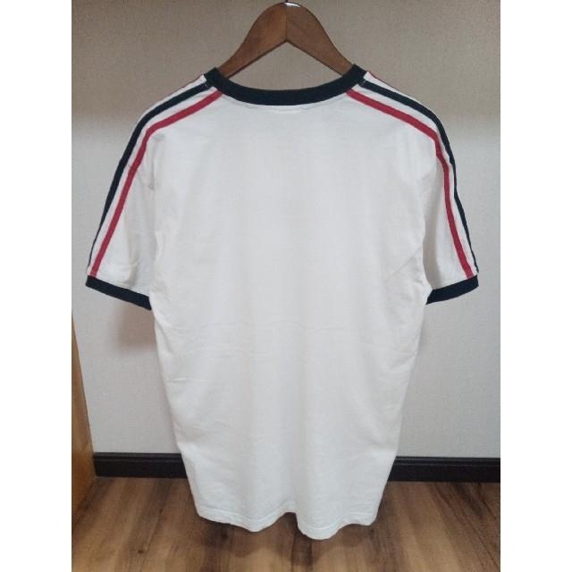 adidas(アディダス)の唯一出品 ADIDAS アディダス 旧タグ スリーライン ビンテージ ビックロゴ メンズのトップス(Tシャツ/カットソー(半袖/袖なし))の商品写真