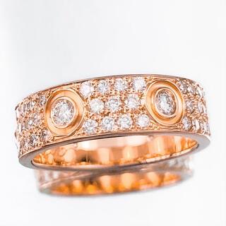 Cartier - 【保証書付】カルティエ ラブリング 9号 PG 49 ダイヤ 指輪 リング