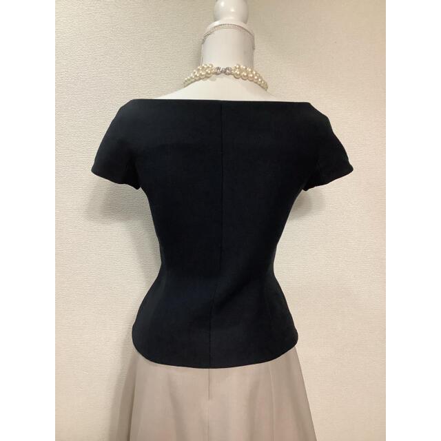 Christian Dior(クリスチャンディオール)の2021年購入 美品 クリスチャンディオール オフショルダージャケット 38 レディースのジャケット/アウター(ノーカラージャケット)の商品写真