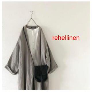 nest Robe - rehellinen linen wool long jacket コート