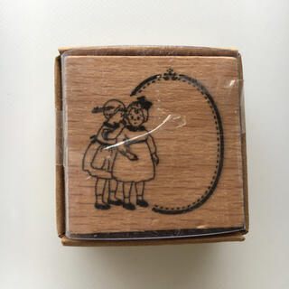 女の子 木製スタンプ (はんこ)