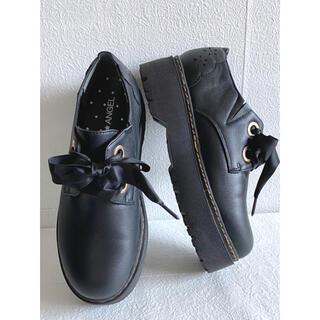 シマムラ(しまむら)のPINKANGEL マニッシュシューズ 中黒 Lサイズ(ローファー/革靴)