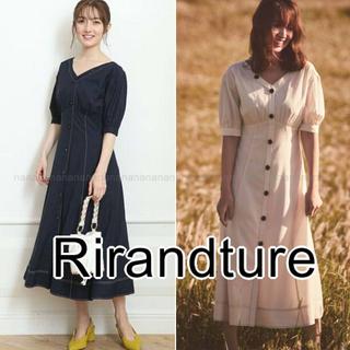 Rirandture - 新品 リランドチュール 袖ボリューム ステッチ ワンピース 小嶋陽菜