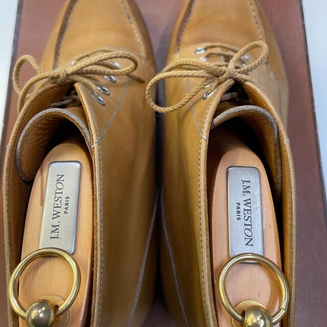 J.M. WESTON(ジェーエムウエストン)のJMウエストンゴルフブーツ7Cカーフナチュラルシューツリー付 メンズの靴/シューズ(ドレス/ビジネス)の商品写真