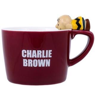 スヌーピー(SNOOPY)のチャーリーブラウン フィギュア付き マグカップ スヌーピー PEANUTS マグ(グラス/カップ)