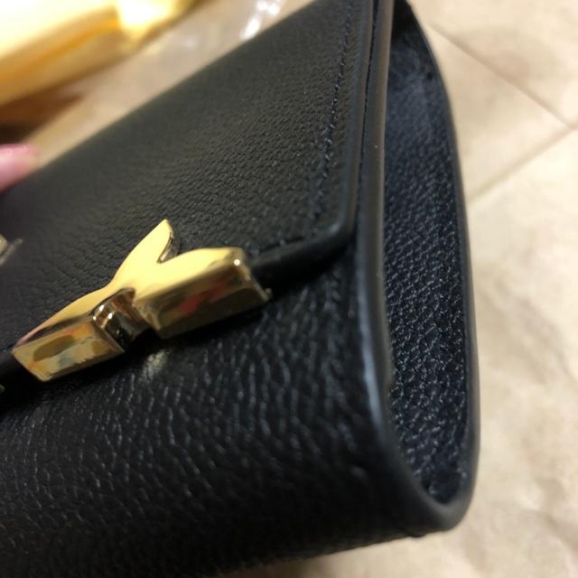 専用 レディス長財布 ブラック メンズ 大きめ財布 ゴールド金具 レディス財布 レディースのファッション小物(財布)の商品写真