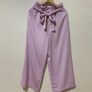 Rope' Picnic - ロペピクニック  ピンク ワイドパンツ リボン付  タグ付