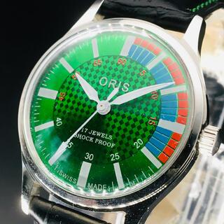 オリス(ORIS)のビューティー【オリス ORIS】腕時計/メンズ/グリーン/緑/手巻き/ビンテージ(腕時計(アナログ))