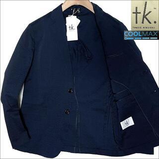 タケオキクチ(TAKEO KIKUCHI)のJ3087新品 タケオキクチ COOLMAX シアサッカーパッカブルジャケットS(テーラードジャケット)