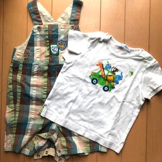 familiar - フォミリア オーバーオール&Tシャツ サイズ80 美品