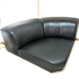 黒 コーナー ローソファー ブラック ロー ソファー ソファ 家具 (コーナーソファ)