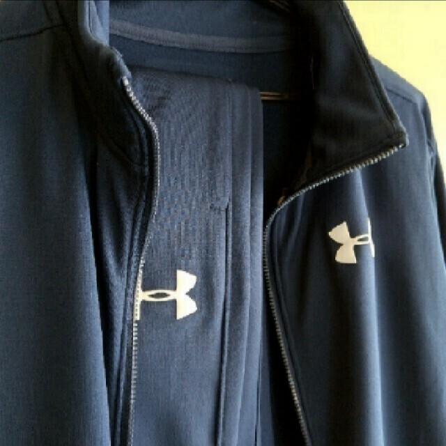 UNDER ARMOUR(アンダーアーマー)の新品sale!アンダーアーマー 裏トリコット ジャージ上下セット150 キッズ/ベビー/マタニティのキッズ服男の子用(90cm~)(ジャケット/上着)の商品写真