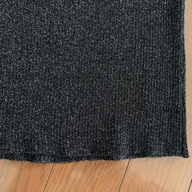 ANAYI(アナイ)のアナイ 38 Mサイズ カットソー 黒ラメ レディースのトップス(カットソー(半袖/袖なし))の商品写真