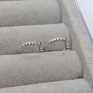 JEWELRY TSUTSUMI - K18 WG ダイヤモンド フープピアス