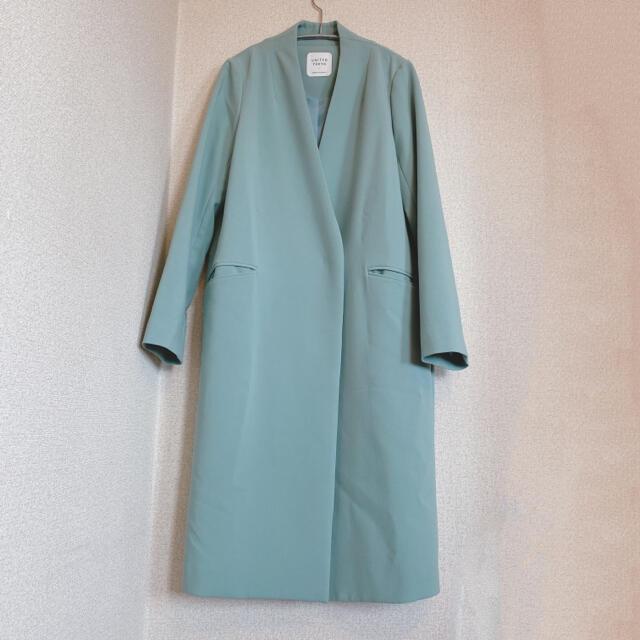 STUDIOUS(ステュディオス)の【美品】UNITED TOKYO ユナイテッドトウキョウ ノーカラーコート レディースのジャケット/アウター(トレンチコート)の商品写真