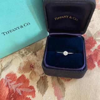 Tiffany & Co. - ティファニー ダイヤモンド 0.22ct プラチナ リング 11号 指輪