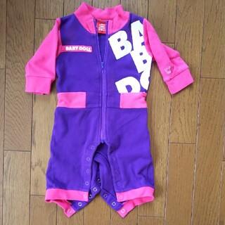 ベビードール(BABYDOLL)のBABYDOLL カバーオール 紫×ピンク 70㎝(カバーオール)