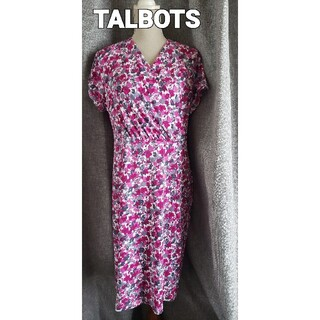 タルボット(TALBOTS)の未使用品レベル TALBOTS  綺麗で可憐なジャージワンピース未使用品レベル (ひざ丈ワンピース)