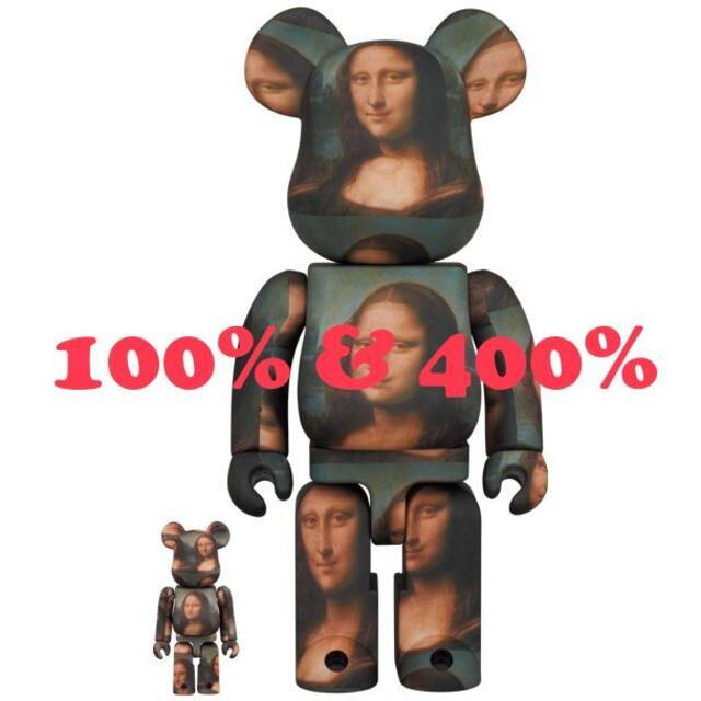 MEDICOM TOY(メディコムトイ)のBE@RBRICK Mona Lisa 100% & 400% エンタメ/ホビーのフィギュア(その他)の商品写真
