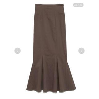 snidel - SNIDEL♥ハイウエストヘムフレアスカート モカ 0サイズ