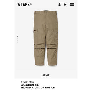 W)taps - WTAPS 21SS JUNGLE TROUSERS ベージュ XL 新品未使用
