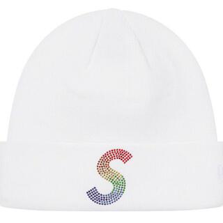 Supreme - New Era Swarovski S Logo Beanie white