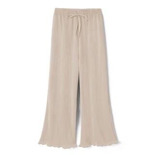 GRL - GRL裾メロウカットプリーツフレアパンツ