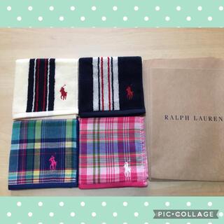 Ralph Lauren - 新品 ラルフローレン タオルハンカチ ミニタオル 4枚セット