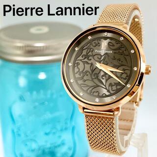 ピエールラニエ(Pierre Lannier)の150 ピエールラニエ時計 レディース腕時計 ピンクゴールド フラワー ブラック(腕時計)