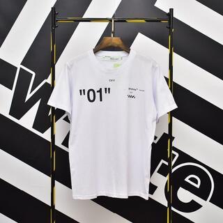 OFF-WHITE - 2枚9000円 人気  オフホワイト Tシャツ 男女兼用 BZ61