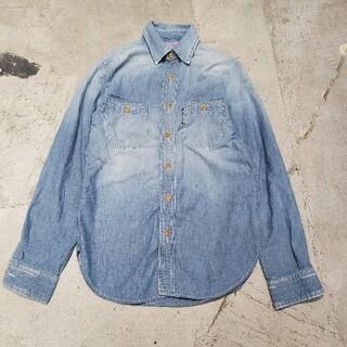 ブルーブルー(BLUE BLUE)のBLUE BLUE ブルーブルー シャンブレー ユーズド ダメージ加工 シャツ(シャツ)