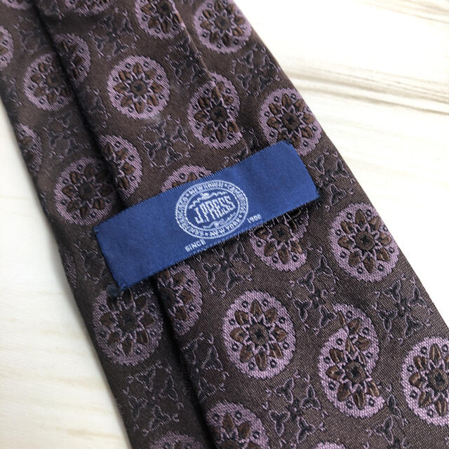 J.PRESS(ジェイプレス)の【ジェイプレス】ブラウン柄ネクタイ メンズのファッション小物(ネクタイ)の商品写真