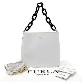 Furla - 【超美品】フルラ 2WAYハンドバッグ プラチェーン レザー ホワイト Q17