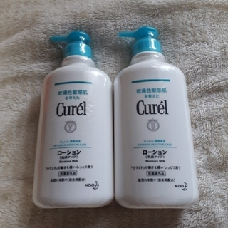 キュレル(Curel)のキュレル 潤浸保湿ローション(乳液タイプ)顔・からだ用  ポンプタイプ2本(ボディローション/ミルク)